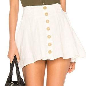 Free People Linen Skirt / Skort 0